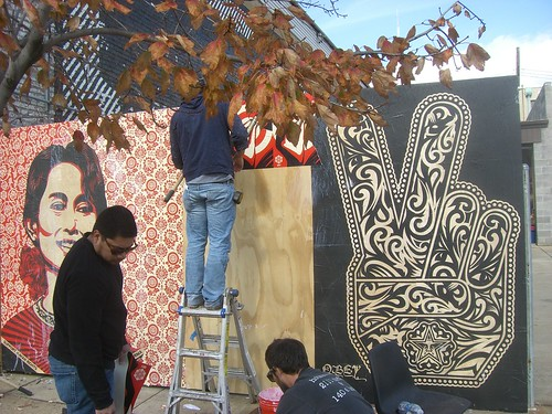 """Shepard Fairey Mural 2009 • <a style=""""font-size:0.8em;"""" href=""""http://www.flickr.com/photos/44166757@N02/14128435648/"""" target=""""_blank"""">View on Flickr</a>"""