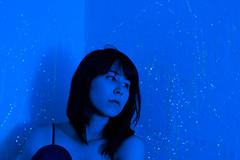 self (114) (Sydney K.) Tags: camera blue light portrait sky color girl monochrome wall digital self canon stars person rebel sticks paint glow bright dorm sparkle drip teenager stick walls dots dslr splatter constellations sl1
