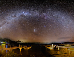 Above the Bay (Matthew Post) Tags: longexposure canon stars star nightscape post matthew jetty australia astro galaxy astrophotography queensland f28 pontoon milkyway 6d rainbowbeach gympie themilkyway tincanbay cooloolacoast carlopoint matthewpost samyang14mm