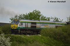 219 clags out of Portlaoise, 23/5/14 (hurricanemk1c) Tags: irish train gm rail railway trains railways irishrail 201 219 generalmotors 2014 clag portlaoise emd iarnród éireann iarnródéireann 0920corkheuston