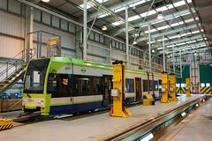 In the Depot (McTumshie) Tags: england unitedkingdom tram depot croydon tramlink tfl londonist transportforlondon 2551 therapialane croydonheritagefestival 29june2014 cdroydon