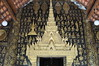 The interior artwork is gold and black for a change (shankar s.) Tags: southeastasia buddhism lp laos wat buddhisttemple luangprabang chedi watxiengthong buddhistart buddhistshrine laopdr buddhistarchitecture unescoworldheritagecity buddhistreligion buddhistfaith