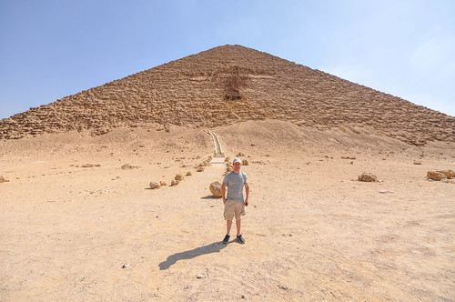 Entry to the Red Pyramid (The third largest granite building of the world)