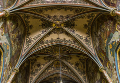 Ceiling in the church (katka.havlikova) Tags: art church beauty cemetery st paul republic colours czech prague cathedral god basilica religion praha ceiling peter middle ages republika vysehrad vyehrad esk katka920