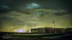 Turbulent Sky (Chains of Pace) Tags: storm building oklahoma architecture clouds landscape unitedstates flag guymon cloudsstormssunsetssunrises