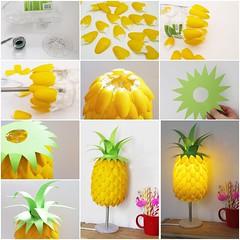 DIY pineapple-lamp from plastic-spoons (Wonderful DIY) Tags: diy handmade crafts pineapple lampshade homeidea