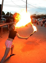 Fire Breathing (Adventurer Dustin Holmes) Tags: events event performers performer firebreather firebreathing springfieldmissouri firespitting 2014 springfieldmo firespitter summerbazaar cstreetcitymarket