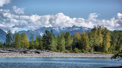 skeena river at dorreen (xtremepeaks) Tags: old sea sky canada mountains clouds port river town bc decay ghost skeena essington