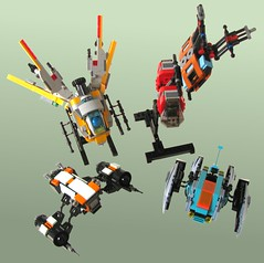 Small Starfighters group shot 02 (cjedwards47) Tags: ship lego space contest spaceship moc