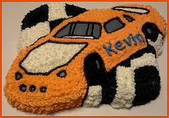 Race Car Cake by Pat, Linn County, IA, www.birthdaycakes4free.com