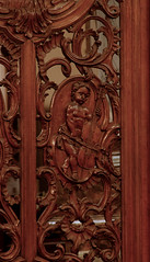 Poperinge, West-Vlaanderen, Sint-Janskerk, choir, panelling, king David (groenling) Tags: wood david angel choir oak king belgium belgi carving westvlaanderen cello be cherub engel chancel poperinge hout woodcarving eik flanders ajour koor panelling wainscotting violoncello koning violoncel openwork sintjanskerk lambrizering houtsnijwerk snijwerk mmiia