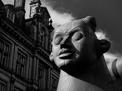 Victoria Square, Birmingham, UK (Mac McCreery) Tags: city uk england blackandwhite sculpture art pentax birminghamuk