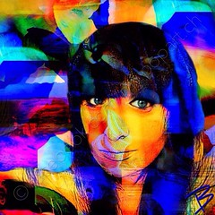 Portrait of Tori Dory Colclough (My Popart) Tags: portrait urban woman abstract art girl beauty modern digital colorful contemporary modernart digitalart popart colourful abstracts edits mypopart