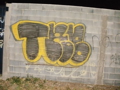 TAB (=BLEK=) Tags: life ny black art yellow wall paint texas fat illegal graff bombing tab fill krew rgv tabk