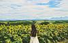 Running Down to the Riptide (Amanda Mabel) Tags: summer sky flower japan photography asia hokkaido sister free sunflowers faceless riptide hairflip portrai flowerfield amandamabel youngwildfree vancejoy runningdowntotheriptide