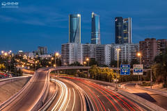 CTBA Torres Madrid (-COULD 2.0) Tags: madrid skyline night spain 4 ngc autopista castellana repsol torres ctba m30 bankia 4torres sigma1750 canon650d bussinesarea
