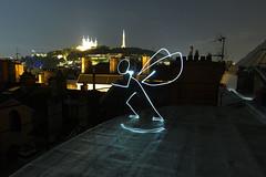 Light Painting, Lyon (dim.garcia) Tags: light lightpainting lyon toit nuit ville centreville basilique rhone fourvire placedesterreaux hauteur rhonealpes