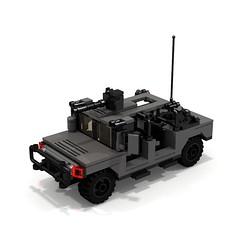BRIX Military HMMWV Hummer V1.0 Soft-top (IK) Tags: lego military hummer ldd hummvee