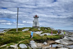 Sandy Cove lighthouse (halifaxlight) Tags: ocean park family lighthouse canada rocks novascotia cloudy exploring shipwreck sandycove terencebay ssatlantic theperfectphotographer ilovemypics
