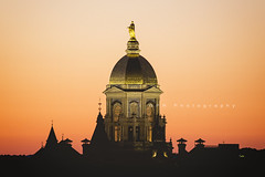 Dome at Dusk (riggsy23) Tags: sunset building college architecture canon campus university dusk notre dame administration 70200mm