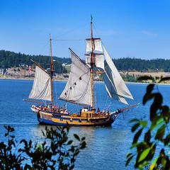 Pirates are back (mogew) Tags: beautiful beauty island washington pacific northwest pirates whidbeyisland mast gunship vess penncove copeville