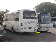 Signature 2 & 5 (Coco the Jerzee Busman) Tags: uk bus islands signature cannon toyota jersey coaster channel caetano coaches optimo lcb