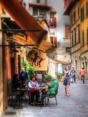 Street Scene, Pistoia, Tuscany (robin denton) Tags: street people urban italy woman girl beautiful beauty bike lady town italian italia sitting candid streetscene tuscany sit bella sat toscana seated youngwoman hdr ville urbanlandscape italiano pistoia signorina toscano younglady bellissimo peoplesitting peopleseated