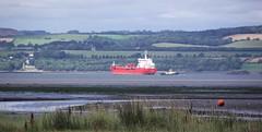turning the ship 01 (byronv2) Tags: sea turn river coast scotland boat edinburgh ship forth coastal tug turning tanker firthofforth riverforth cramond edimbourg rnbforth