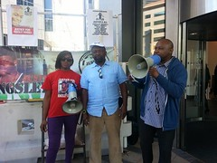 Tippa Naphtali Representin for Mikey @ Kingsley Burrell protest - 8 Sept 2014