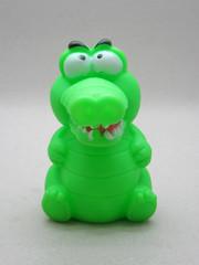 Cross-eyed Croc (The Moog Image Dump) Tags: boss green toy cross jaw teeth alligator vinyl crocodile croc eyed squeaker squeaky