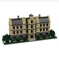 BRIX Batman Micro Modular Wayne Manor V1.0 (IK) Tags: lego wayne modular batman gotham ldd