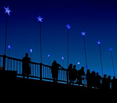 3 Silhouettes on the Bridge Of Stars  (Photo by David Dobrzynski)