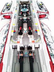 Aurora Exterior Detail Top (LegoSpaceGuy) Tags: brick ship lego space scifi spaceship sci starship moc classicspace