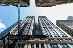 The Equitable Building, Downtown Manhattan (5eba5tian_01) Tags: newyorkcity usa thames architecture america downtown manhattan broadway skyrise wormseyeview converginglines americano2k14