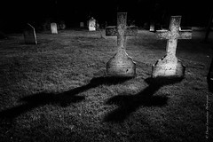 Together forever (Danny Lamontagne) Tags: white black love cemetery canon dead scary noir mort together amour horror forever nightmare phantom mauricie blanc fantme toujours cimetire horreur troisrivires