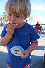 Sam and alfajor (quinn.anya) Tags: sam toddler alfajor cookie eatrealfest