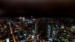 City Lights (ralfkai41) Tags: lichter night architektur panorame nachtaufnahme city cityscape gebude modern frankfurt skyscraper nightshot stadt lights nacht hochhuser buildigs architecture gebude hochhuser