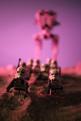 Dusk in the desert (kevinmboots77) Tags: lego legography stormtroopers starwars sandtroopers sandbox atst