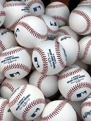 Balls ready for World Series Game 6 batting practice. (apardavila) Tags: postseason wordseries ball baseball baseballs battingpractice iphone7plus majorleaguebaseball mlb progressivefield sports worldseries