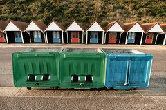 Bournemouth | UK (William Self) Tags: bournemouth england uk autumn 2016 sonya6300 unitedkingdom greatbritain seaside beachhuts huts garbage waste bins