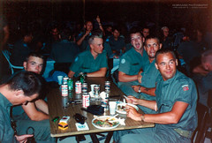 4-3 HQ Barbeque party (Normann Photography) Tags: 1992 43hq fntjeneste kontigent29 lebanon peacecorps unservice unifil unitednations unitednationsinterimforceinlebanon compactfilmcamera peacekeepers kaoukaba nabatieh lb