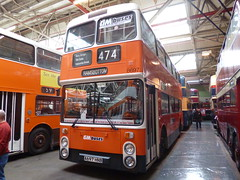Preserved GM Buses 8697 (A697HNB) 15102016b (Rossendalian2013) Tags: preserved bus manchester greatermanchesterpte gmpte greatermanchestertransport gmbuses gmbusesnorth greatermanchesterbusesnorthlimited firstmanchester leyland atlantean an68 northerncounties a697hnb