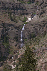 Waterfall on Barronette Peak. Yellowstone (spotwolf5) Tags: abasarokarange waterfalls yellowstonepark