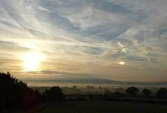 Sunrise sundog! (rockwolf) Tags: sunrise sundog mocksun parhelia sun mist sky clouds haughmondhill wrekin shropshire rockwolf