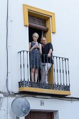 Spain - Malaga - Romantic Ronda (Marcial Bernabeu) Tags: spectator spectators espectador espectadora espectadores balcony balcon balcón spain españa andalucia andalucía andalusia marcial bernabeu bernabéu malaga málaga ronda romantica romántica romantic rondaromantica people gente couple pareja