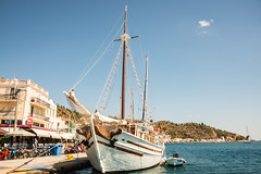 Poros - Sailing Boat Harbourside (Le Monde1) Tags: poros greece greek island lemonde1 nikon d800e saronicislands sfairia kalavria sailing boat harbourside