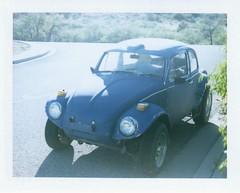 Baja (EllenJo) Tags: baja vw volkswagen bug beetle 1972 polaroidpathfinder polaroidlandcamera convertedpathfinder landcamera polaroid fujifp100c fujiinstantfilm fujifilm 2016 roidweek polaroidweek ellenjoroberts ellenjo instantfilm
