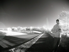 aaron caught in fisheye (Trazy) Tags: fortsnelling minneapolis mn fisheye ir infrared
