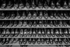 some pairs of black shoes (Werner Schnell Images (2.stream)) Tags: ws black shoes schuhe laden shop