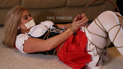 Little Red Riding Hoods in Trouble (Fanta_Productions) Tags: littleredridinghood ropebondage bondage damselindistress tapegag microfoamtape costumes